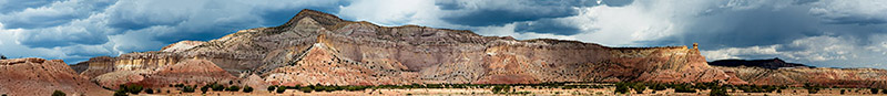 Panorama View from the Original O'Keeffe Ghost Ranch Model A Access Road